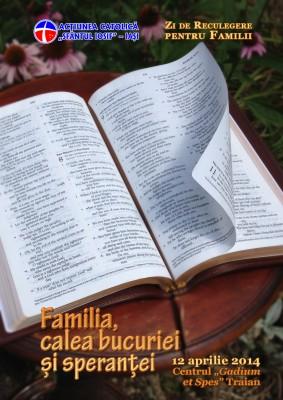 Afis zi de reculegere pt familii 2014